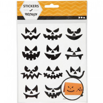 1 Sheet Small Face Halloween Stickers